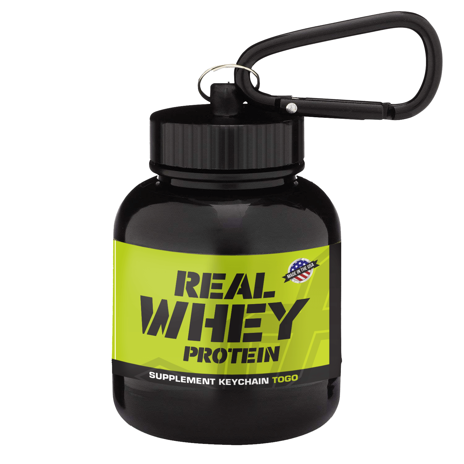 Whey To Go Supplement Keychain Vx Black