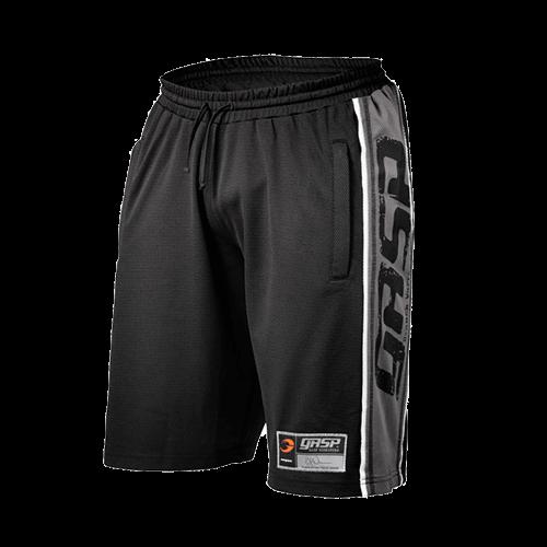 Raw mesh shorts